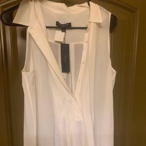 NWT Republic white silk blouse